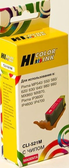 Картридж Hi-Black (HB-CLI-521M) для Canon PIXMA iP3600/ iP4600/ MP540, M