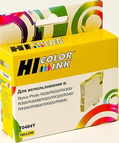 Картридж Hi-Black (HB-T0484) для Epson Stylus Photo R200/ R300/ RX500/ RX600, Y